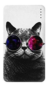 R3054 Cool Cat Glasses Universal INNOVE 4000mAh Portable USB External Battery Charger Power Bank For Mobile Phones