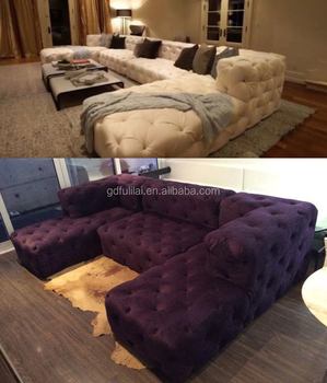 Soho Sectional Tufted Fabric Sofa