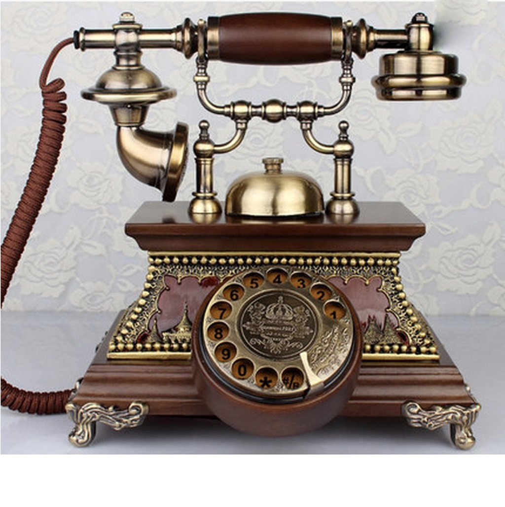 Hyun times European-style Retro Solid Wood European-style Rotating Old-fashioned Living Room Telephone Telephone