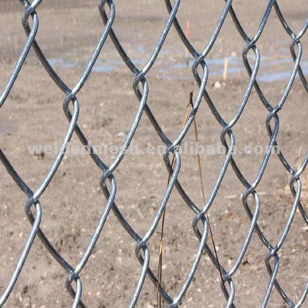 Alambre galvanizado de diamante de malla cadena de enlace valla