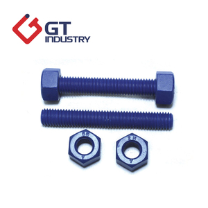 A453 665B Colourful PTFE Stud Bolt With Hex Nut M20