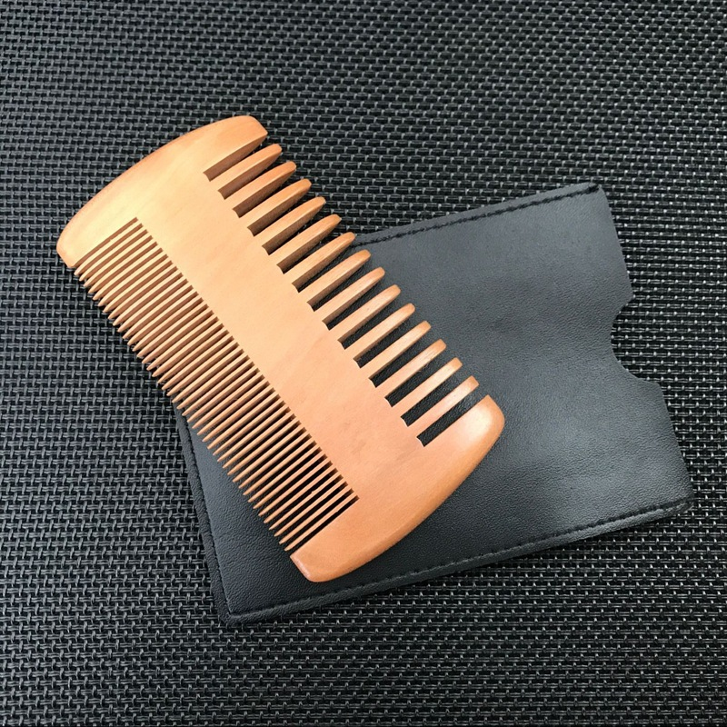 Wholesale mahogany densely toothed hair comb custom logo beard comb large tooth comb