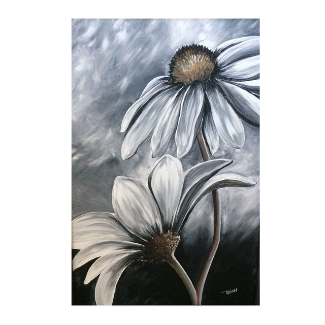 Black and white flower paintings choice image flower decoration ideas china black and white flower art wholesale alibaba black and white flower oil painting for hotel mightylinksfo Choice Image