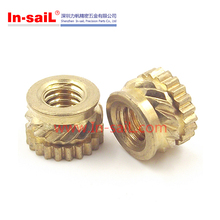 M3 ultrasonic brass thread inserts for plastic