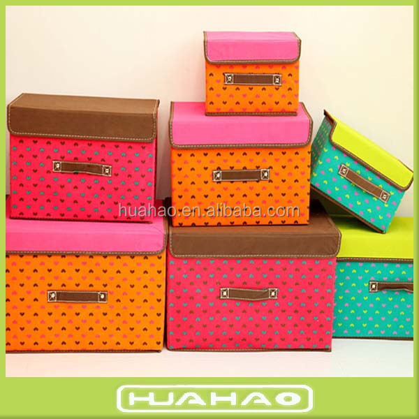 foldable non woven fashion jewelry packaging box storage