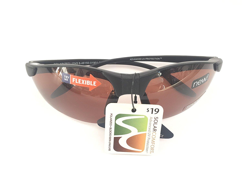 ce1aaf889bb Get Quotations · Solar Comfort Solar Comfort Classic Shield Rectangular  Sunglasses