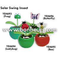 2016 Novelty Toy Solar Swing Frog