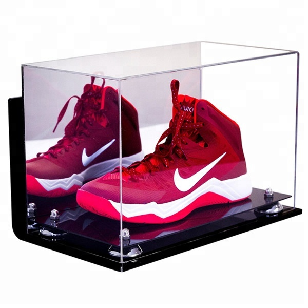 factory direct selling high transparent clear acrylic shoe display case