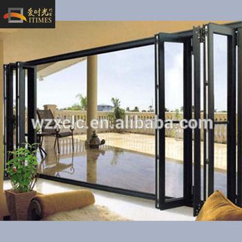 Grey Aluminum Bi Folding Sliding Door Buy Bi Fold Screen Door