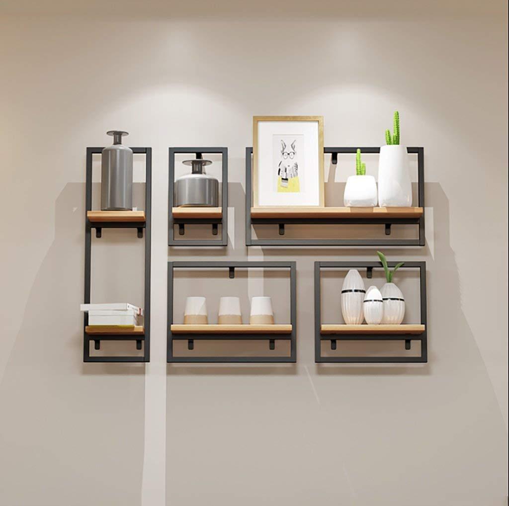 Get quotations · bookshelf black wall shelf on vintage wall loft iron decorative bookshelf bar wall wall shelf creative