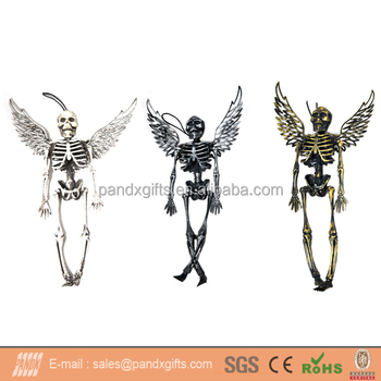 halloween decoration plastic hanging skeleton angel - Skeleton Halloween Decoration