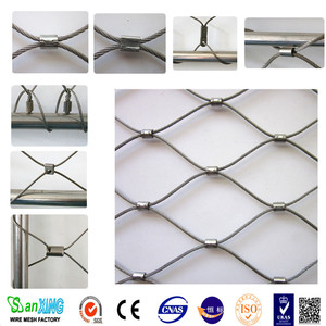Factory supply 304 stainless steel zoo animal wire cable rope mesh