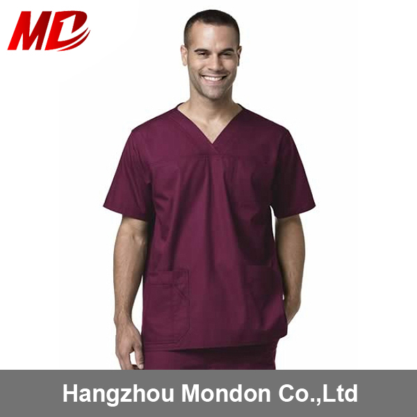 China OEM Factory Custom Medical Scrub Suit for Men