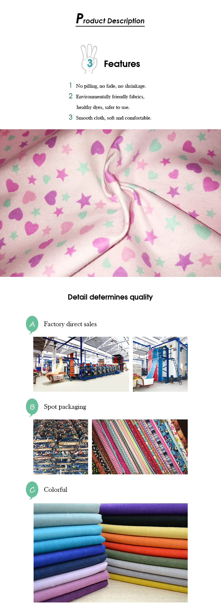 Fantastic quality chinese wholesale 100% cotton flannel roll fabric