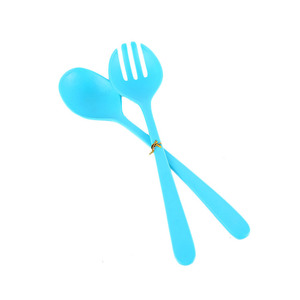 2018 New Children Home 100% Food Grade Plastic Salad Stirring Flatware Cake Fork Spoon Sets