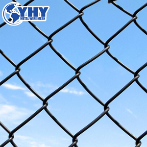 "1/2"" hole size green PVC coated chain link fences and gates"
