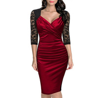 ZH2197C High Quality Competitive Price V Neck Sexy Bodycon Cocktail Dresses