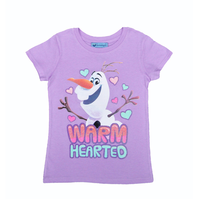 Girls t shirt Olaf girls t shirt Cartoon animation characters Olaf printing tops girls clothes summer