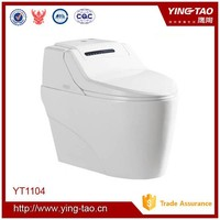 hygienic toilet seat bathroom white automatic cleaning toilet