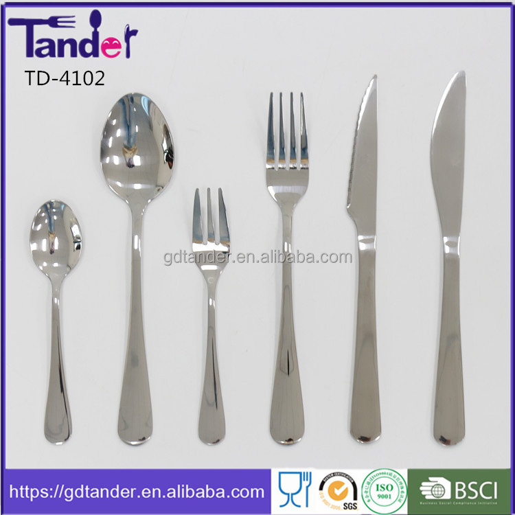 Tander factory metal products school club canteen cutlery