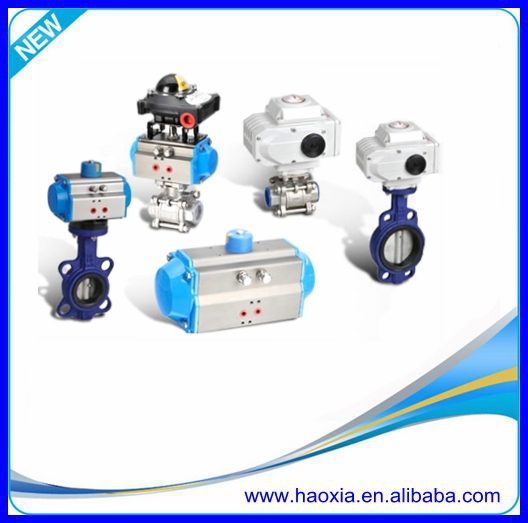 Q611F-16P 3 pcs pneumatic actuator ball valve for water treatment