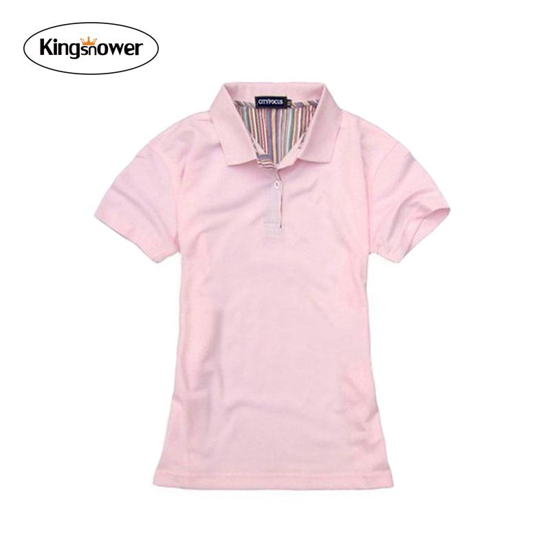 Compra camisa de polo para mujer online al por mayor de