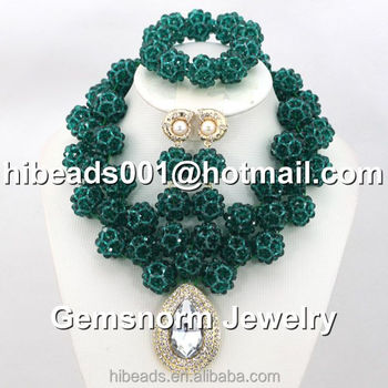 bharatanatyam with online balls beads chain buy stones colour polished ball kempu golden green set jewelry