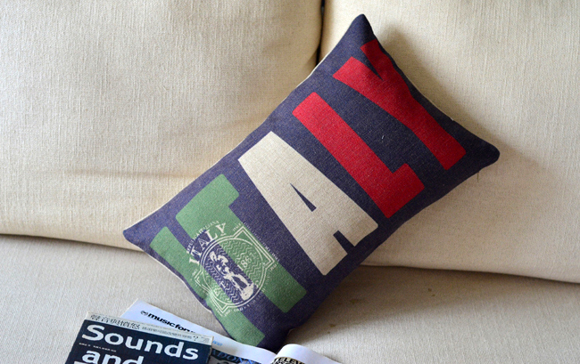 <font><b>Italian</b></font> national flag pillow cushion covers sofa chair cushions shabby chic <font><b>home</b></font> <font><b>decor</b></font>