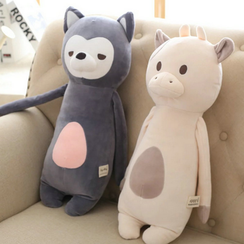 50cm 2017 New Style Cute Small Animals Plush Toys Cow/rabbit Sleep pillow Dog Cushion appease toy Stuffed Soft plush Doll