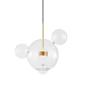 Fashion Clear Glass Ball Pendant Lights Modern Chandelier Art