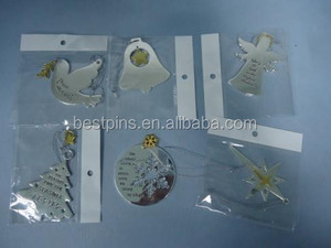Christmas hanging ornaments, Custom made peace bird/bell/angel/tree/round snowflake/star Christmas gifts