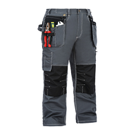 2019 high quality Multi-duty tooling trousers casual loose carrying tool flying pocket durable wear work clothes