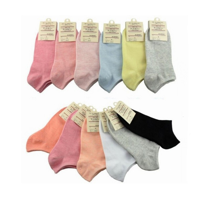 New 2015 Summer Women Socks Sport Pure Color Candy Colors Sweet Women Breathable Socks Cotton Women's 5pair/lot High Quality