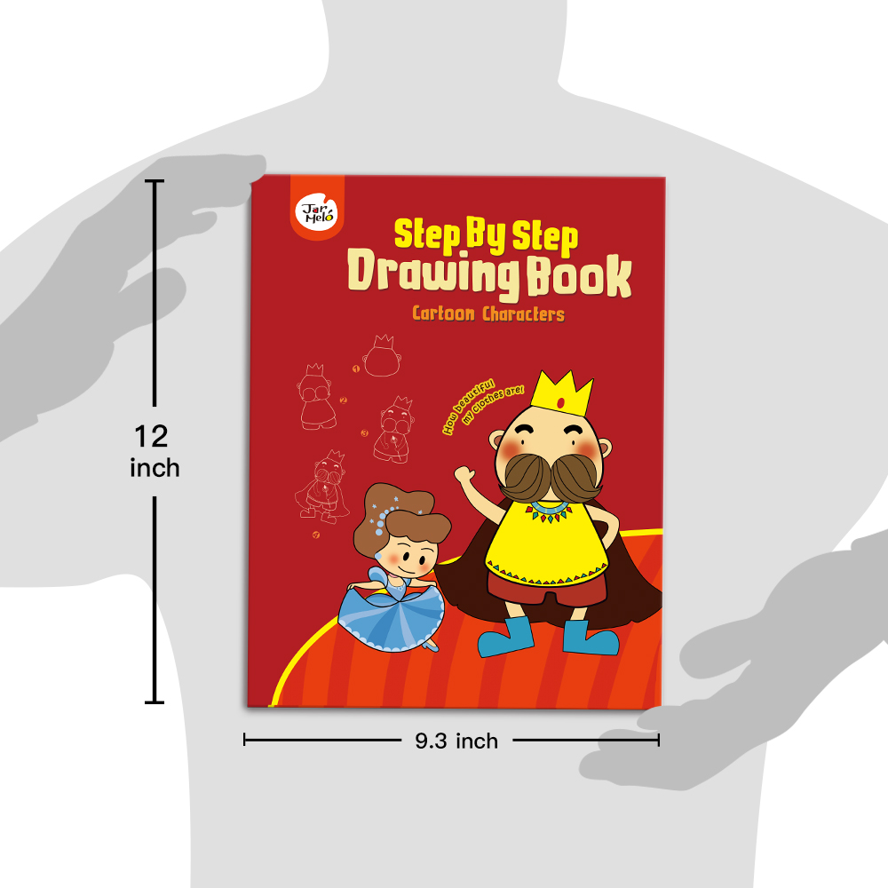 Step by Step Drawing Book Cartoon Characters Doodling Books For Kids Printing