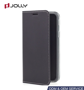 Slim Leather Folio Case For J730GM DS, Skin Book Flip Cover for Samsung Galaxy J7 Pro