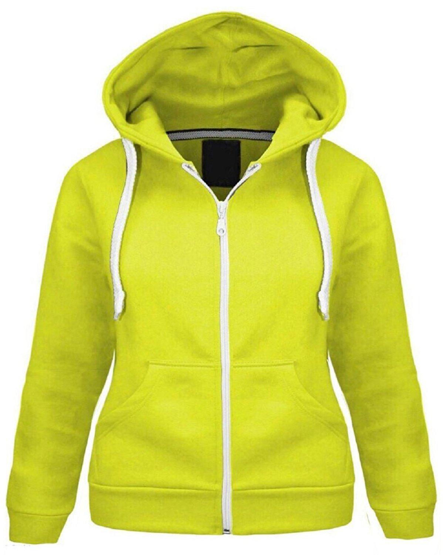 390b3652e9b0f Get Quotations · ZJ FASHIONS Kids Girls   Boys Plain Fleece Hoodie Zip up  Zipper (13