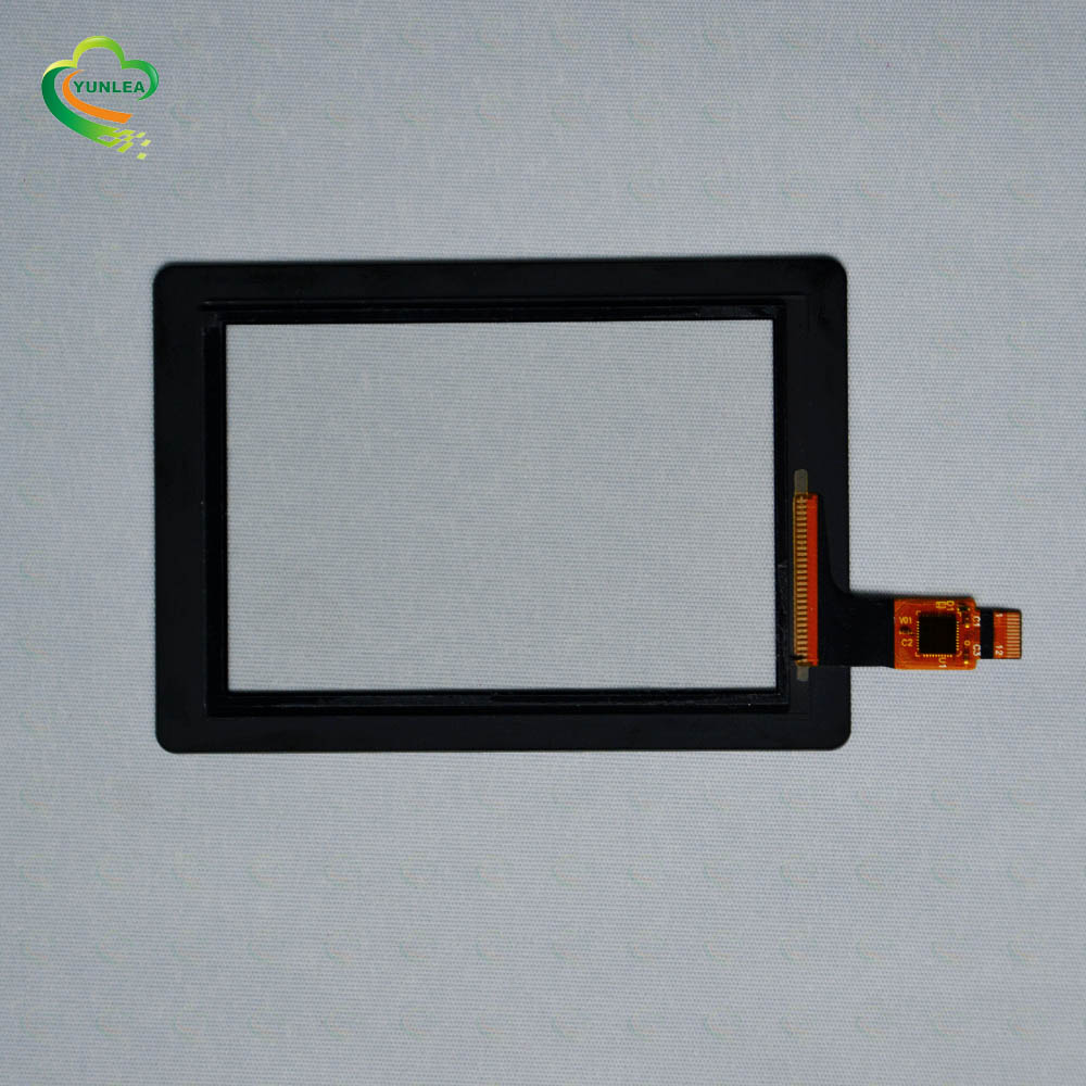 Small size Black Silk-printing color Glass+Glass I2C 3.5 inch Touch screen