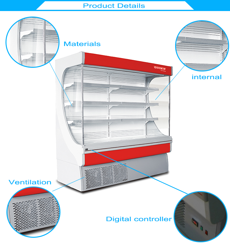 High Quality Sliding Doors Commercial Refrigerator