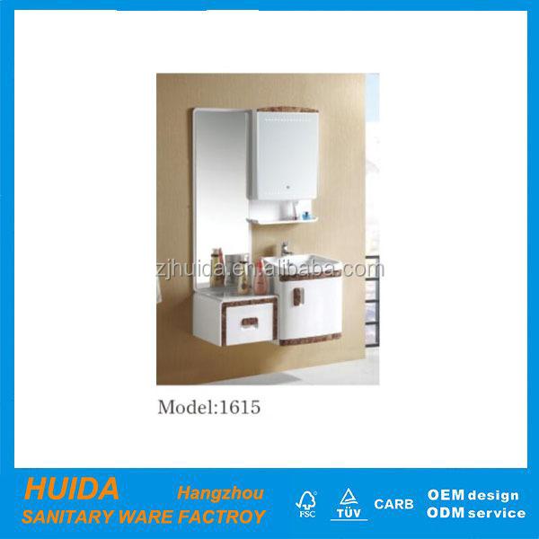 home depot vanit pvc moderne de salle de bains avec miroir armoire hdpe1615 - Home Depot Salle De Bain Vanite
