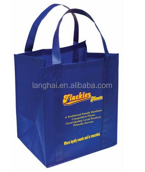 Top selling cheap recycled custom printing grocery tote shopping pp non woven bag laminated folding non woven bag