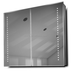 European built-in medical door opener bathroom LED light mirror cabinet