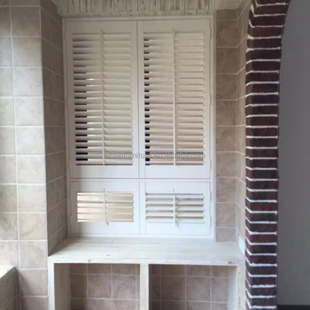 Opening Roof System Louvered Windows Wood Plantation Shutters From China