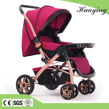 Winered color 8 wheel baby cart / baby stroller with carriage price / baby trend stroller