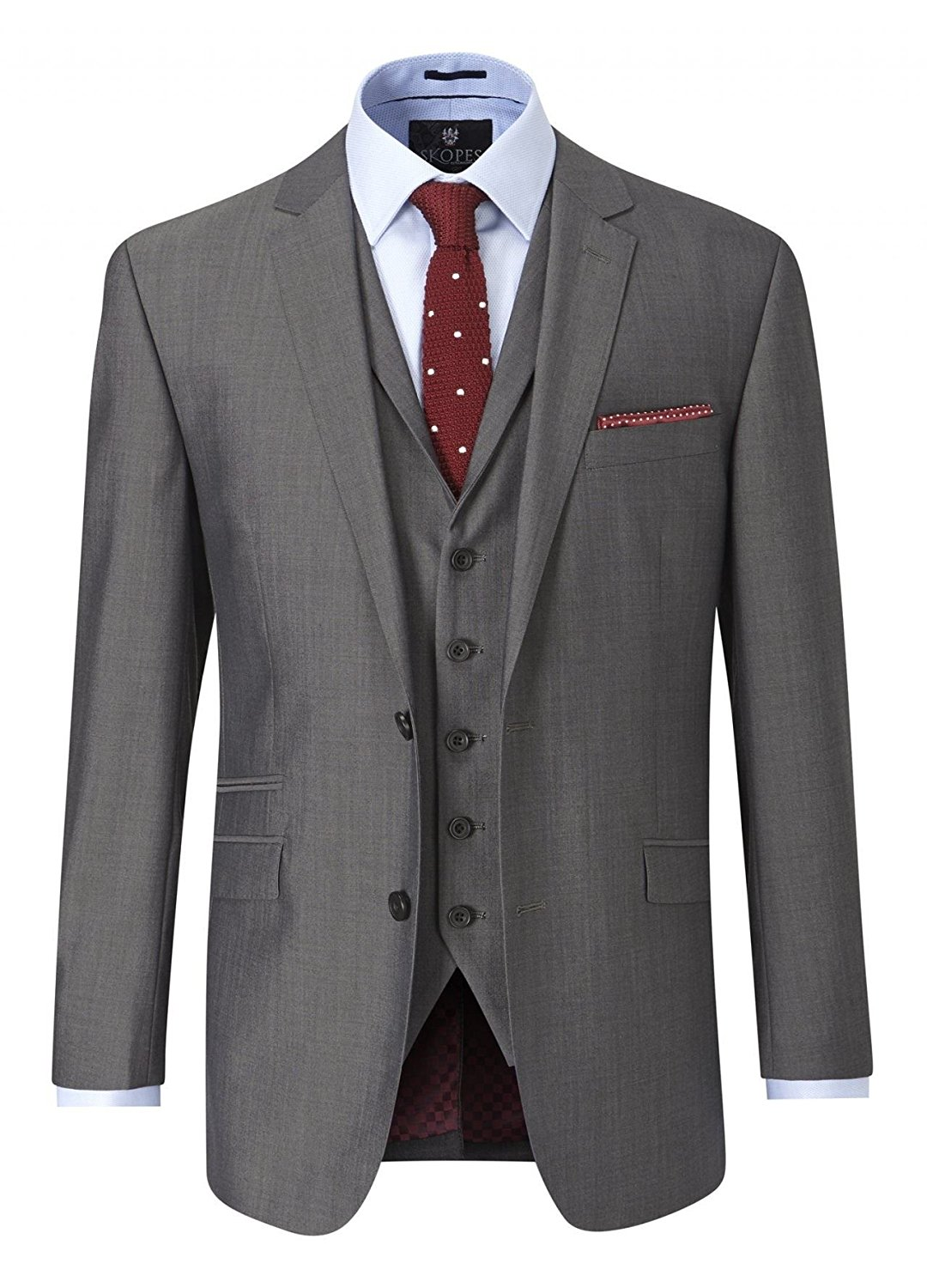 SKOPES Wool Blend Tailored Fit Suit Jacket (Egan) in Charcoal Size 48 To 62, S/R/L