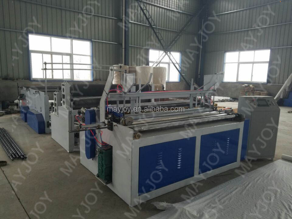 Double Embossing Automatic Paper Core Dropping Function Toilet Tissue Paper Making Machine