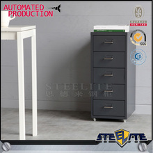 New Style Metal Mobile Pedestal 3 4 5 6 Drawers Mobile Pedestal Mobile Movable Cabinet