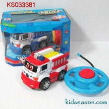 2 CHANNEL RADIO CONTROL CARTOON POLICE CAR WITH LIGHT AND SOUNDS