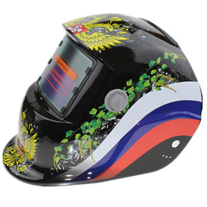 adjusting welding helmet with variable light