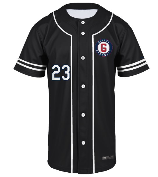 Wholesale custom sublimation embroidered pinstripe baseball jersey