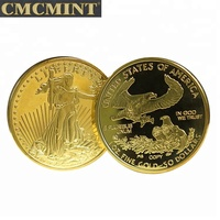 2018 High Quality American Eagle coin gold plated coins for Gift